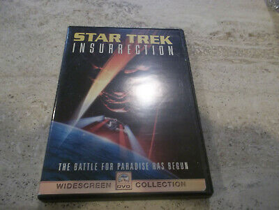 Star Trek: Insurrection (DVD, 1999, Widescreen), Case and Cover Art included GUC