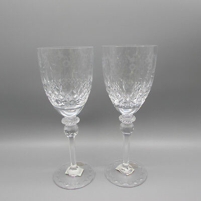 Rogaska Cut Crystal GALLIA Water Goblets - SET OF TWO
