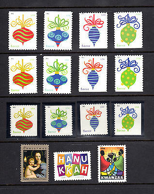 Christmas 4571-74 4575-78 4579-82  Comtempory + 3 Holiday Issues from 2011 MNH
