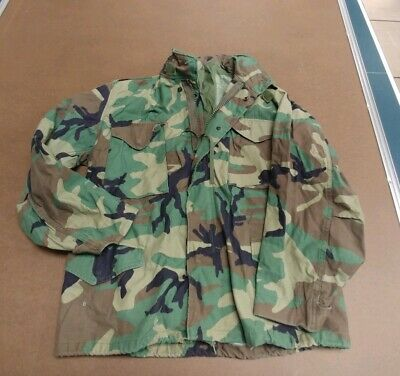 9d31e9763d2bb US Army Woodland Field Jacket Coat Cold Weather Camo Med-Short 8415-01-