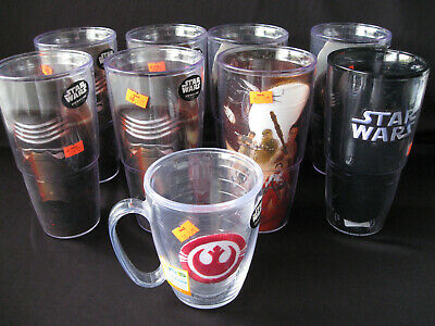 4a647fbbaf3 Brand New Tervis Star Wars Tumblers - Lot of 9 - Collectible Cups Large Kylo  Ren