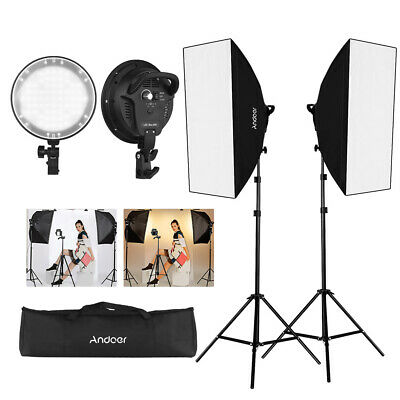 Andoer Continuous Lighting Softbox Photography Studio Video Light Stand Kit K8E8
