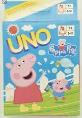 Traditional UNO CARDS Family Fun Playing Card Game Peppa Pig NEW