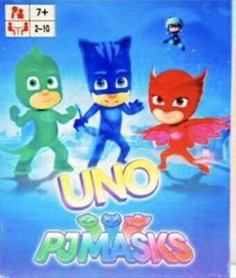Traditional UNO CARDS Family Fun Playing Card PJ Masks NEW