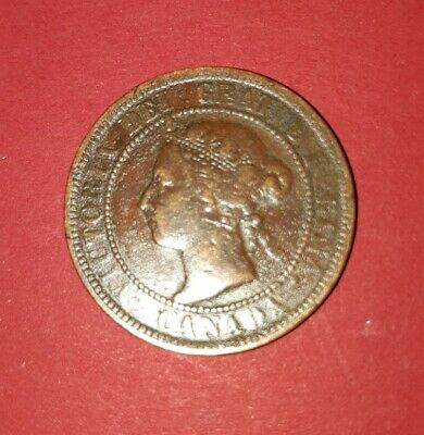1900 H Canada Victoria One Cent Coin Very Nice!