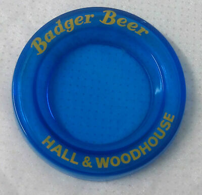 blue glass ashtray Hall & Woodhouse BADGER BEER see all details