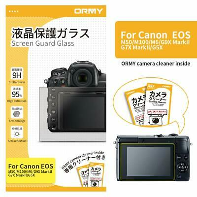 ORMY® Tempered Glass Camera Screen Guard for Canon EOS M50 / M100 / M6 / G9X Mar
