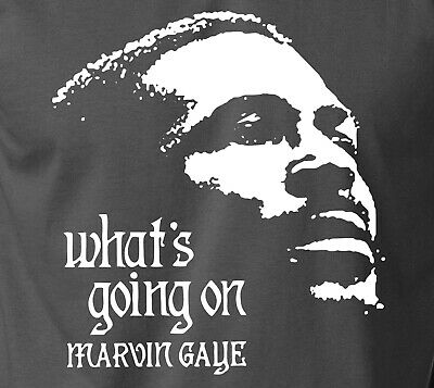 Marvin Gaye WHATS GOING ON T-Shirt Vintage Retro Motown Soul Funk Jazz S-6XL Tee