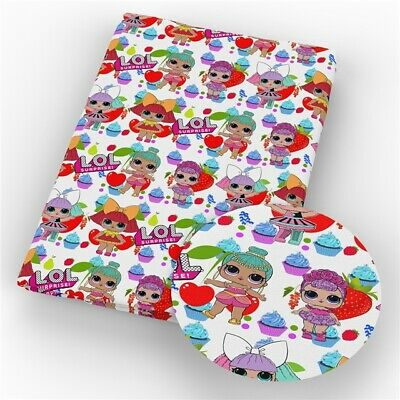 Lol surprise Hearts and cupcakes Crafts Printed Polycotton blend fabric 50*145cm