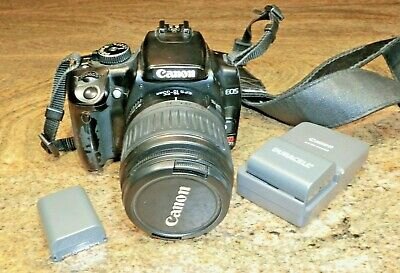 Canon Rebel XTi / EOS 400D 10.1MP DSLR Camera w/ 18-55mm Lens Battery Charger