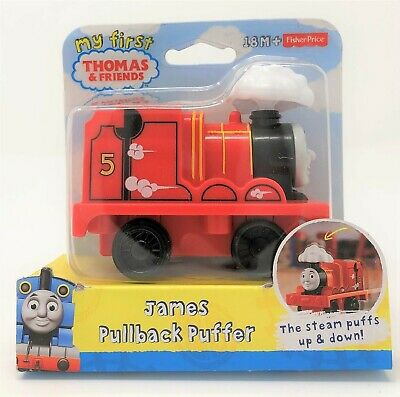 My First Thomas the Tank Pullback Puffer James Red Engine Train Vehicle Toy