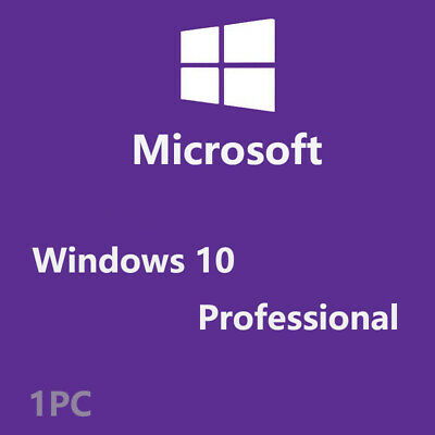 Genuine Ms Windows 10 Pro/ Professional 32/64 bit  Activation License Key