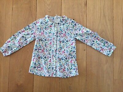Next Girls Blouse Girls Top Space Bees Flowers Top S3-4 Nwt