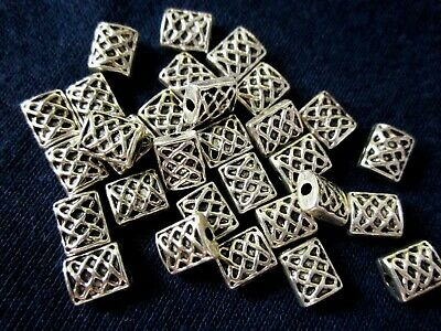 30 Antique Silver Coloured 6mmx5mm Celtic Weave Spacer Beads #sp1375 Findings