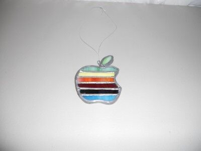 Handmade Apple Logo stained glass ornament sun catcher