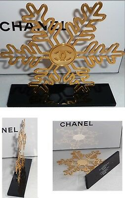 (No taxe) RARE Store display stand Chanel snowflake flocon siglé cc Plv +Lire