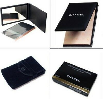 No taxe Version luxe Chanel papier matifiant + pochon chanel suédine +box Lire