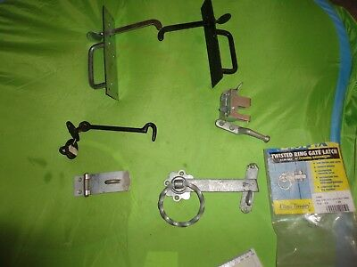 Job Lot Of New Old Stock Door Gate Catches And Latches From Closed Down Shop
