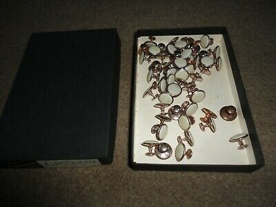 """BOX OF OVER 50 x VINTAGE """" THE DEVERSUM STUD"""" GOLD COLOURED STUDS NUMBER 0.359"""