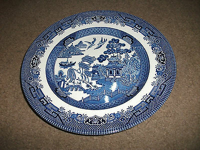 Churchill Willow Blue & White Dinner Plate In Very Good Condition-Lovely Plate