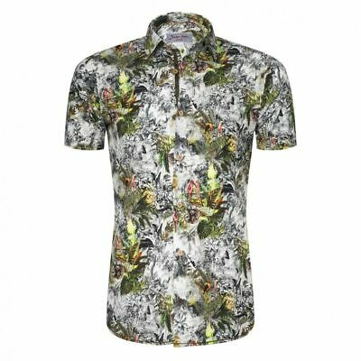 Signum Men's Rugged short Sleeve Shirt with Exotic Print 100% Cotton