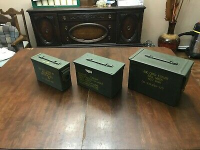 ( 3 Pack ) Combo 50 Cal/30/Fat 50 AMMO CAN VERY GOOD CONDITION- *FREE SHIPPING*