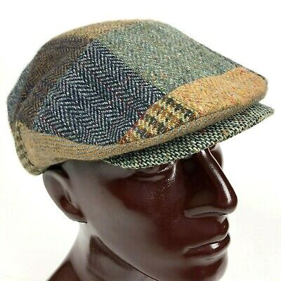 4bf38db30519e Hanna Hats S M Donegal Tweed Patchwork Twill Snap Front Ivy Duck Cap Newsboy