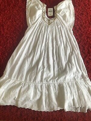 Girls NEXT White Embroidered Long Summer Style  Dress Age 11 Years BNWT. RRP £26