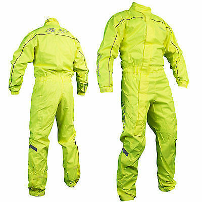RST Waterproof 1 Piece Fluorescent Over Suit Motorcycle Motorbike - Flo Yellow