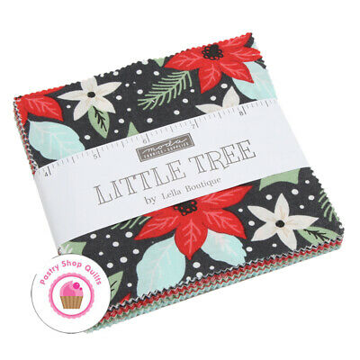"Moda LITTLE TREE Lella Boutique CHARM PACK 42- 5"" squares QUILT FABRIC Christmas"