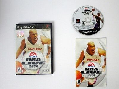 NBA Live 2004 game for Sony Playstation 2 PS2 -Complete