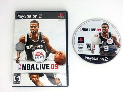 NBA Live 09 game for Sony Playstation 2 PS2 -Game & Case
