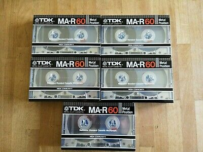 New! 5 X Sealed Tdk Ma-R60, Type Iv, Metal, One Of The Very Best K7 Cassette