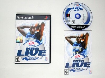 NBA Live 2001 game for Sony Playstation 2 PS2 -Complete