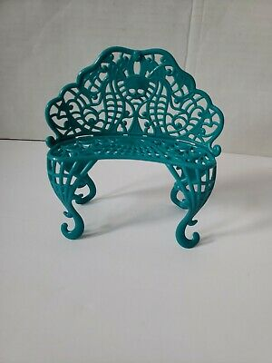 Monster high Doll Furniture Teal Bench, dollhouse furniture