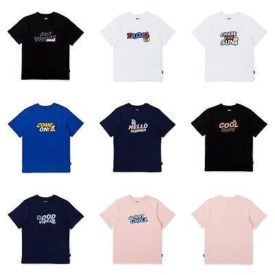 BTS BT21 Official Bon Voyage Summer Short Sleeve T-Shirts Line Friends Authentic
