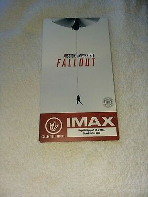 Mission Impossible Fallout Collectible Regal IMAX Ticket Tom Cruise