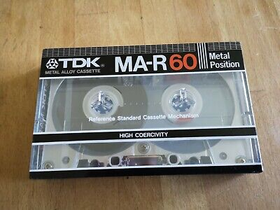 New! Sealed Tdk Ma-R60, Type Iv, Metal, One Of The Very Best