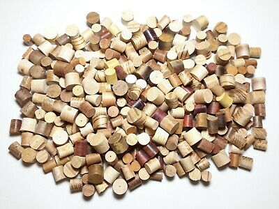 """Tapered Wood Plugs Domestic & Exotic Species 5/16"""", 3/8"""", 1/2"""" diam Free Ship !!"""