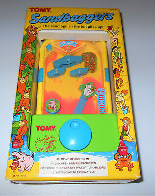 SANDBAGGERS RARE Tomy Electronic Sand Catching Unusual Game / Toy MINT Boxed!