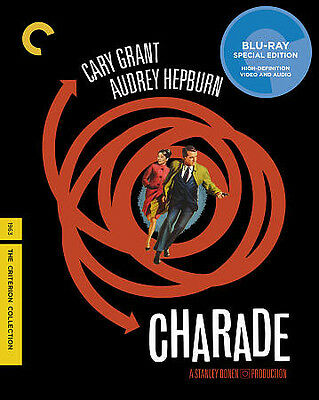 CHARADE (Criterion Collection Blu-ray) - Hepburn, Grant, Donen - NEW/SEALED!