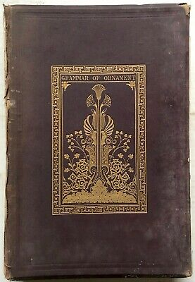 1868 Grammar Of Ornament Jones Fine Binding Illustrated Disbound Plates Rare