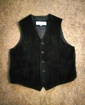 Joshua Ross Mens XL Leather Vest Black