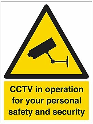 VSafety Security Notice, CCTV In Operation For Your Own Personal Safety And Secu