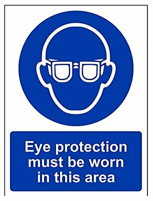 VSafety Eye Protection Must Be Worn In This Department PPE Sign - 150mm x 200mm