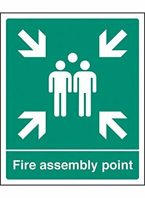 Caledonia Signs 62059H Fire Assembly Point Sign, Aluminium, 300 mm x 250 mm