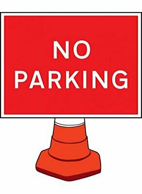 Caledonia Signs 58084No Parking Cone Sign, 600 mm x 450 mm