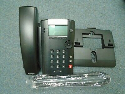 #A Polycom 2201-46162-025 VVX 410 VOIP IP Color Display Telephone W// Stand