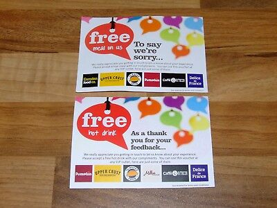 Meal & Drink Voucher for - Upper Crust, Pasty Shop, Millies Cookies & More