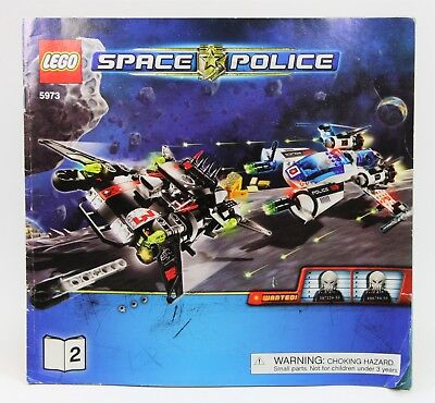 LEGO--SPACE POLICE--Instruction Manual Only #5973 Hyperspeed Pursuit Books 1 /& 2